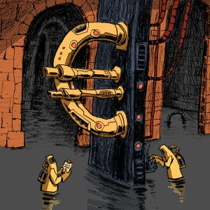 Illustration made for editorial purposes. In particular, it's about the European Union response to the COVID-19 pandemic with Next Generation EU (NGEU). Illustration by Dimitri Fogolin.